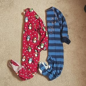 Bundle of two size 3T footie pajamas